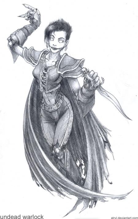 Wonderful World of Warcraft by JohnSu, Jan 7, 2007. WoW - Undead Warlock b